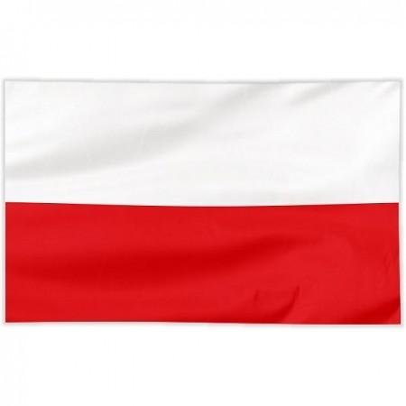Flaga Polska szyta gładka 150/90 cm