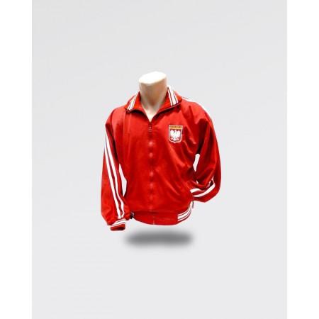 Bluza męska Polska dresowa czerwona z białym paskiem