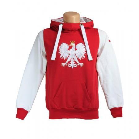 Bluza z orłem i flagą na ramieniu - biała
