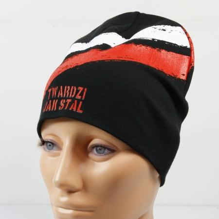 Czarna cienka czapka - Twardzi jak stal