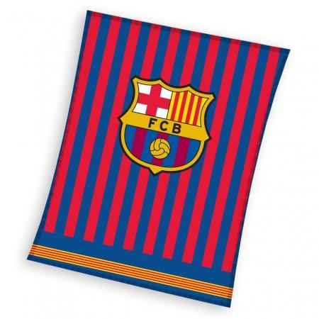 Licencjonowany Koc polarowy FC Barcelona 150 x 200 cm FCB192037
