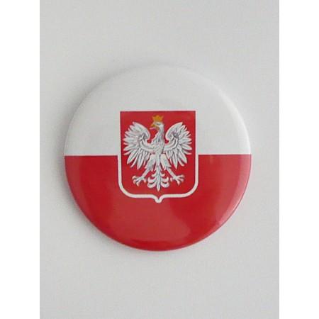 Mała przypinka Polska - wzór 2