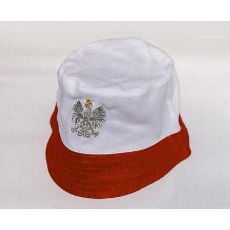Kapelutek biało-czerwony z orłem polskim