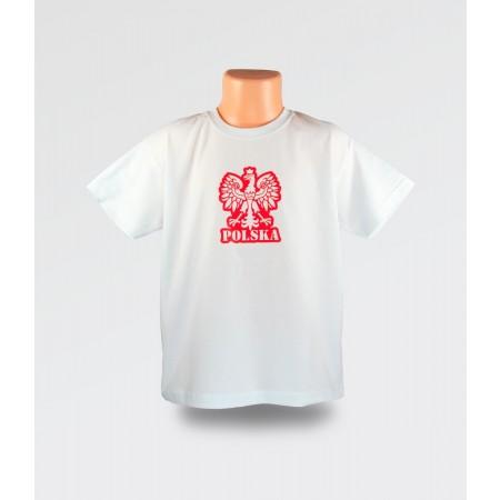 WDK Koszulka dziecięca biała Orzełek dla chłopca