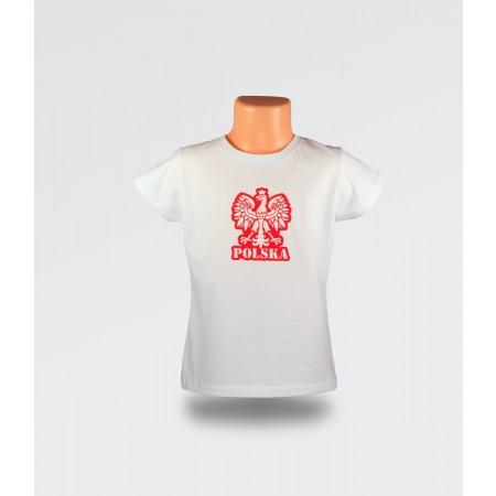 WDK Koszulka dziecięca biała Orzełek dla dziewczynki