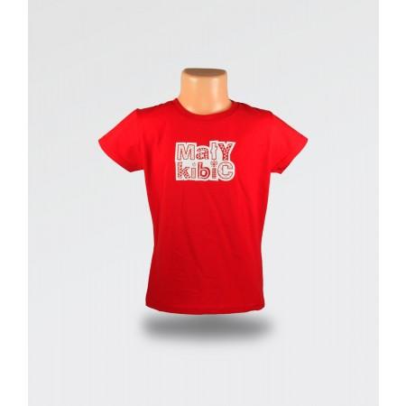 WDK Koszulka dziecięca czerwona Mały Kibic dla dziewczynki