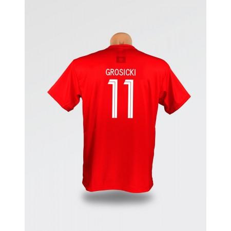 Czerwona dziecięca koszulka Grosicki