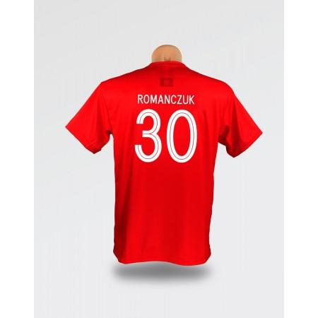 Czerwona dziecięca koszulka Romanczuk