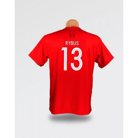 Czerwona dziecięca koszulka Rybus