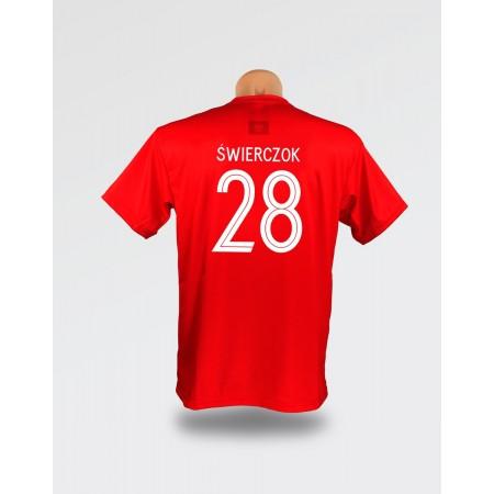 Czerwona dziecięca koszulka Świerczok