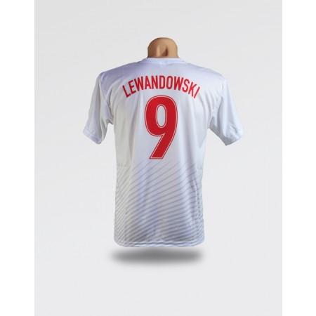 Biała koszulka dziecięca Polska - Lewandowski