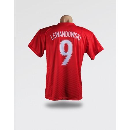 Czerwona koszulka dziecięca Polska - Lewandowski