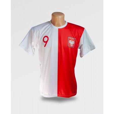 Biało czerwona koszulka Lewandowski