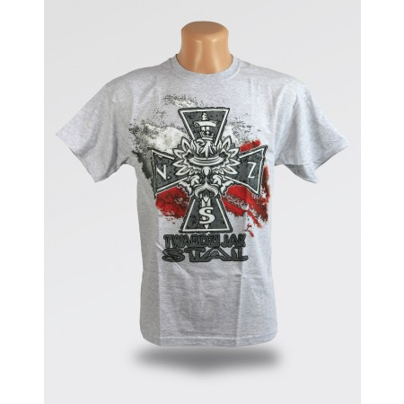 Szara koszulka - Twardzi jak stal