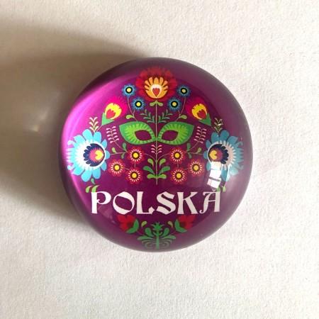 Magnes na lodówkę Polska - fioletowy