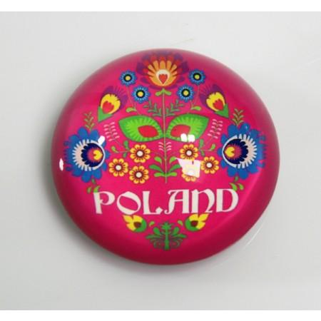 Magnes na lodówkę Polska - różowy