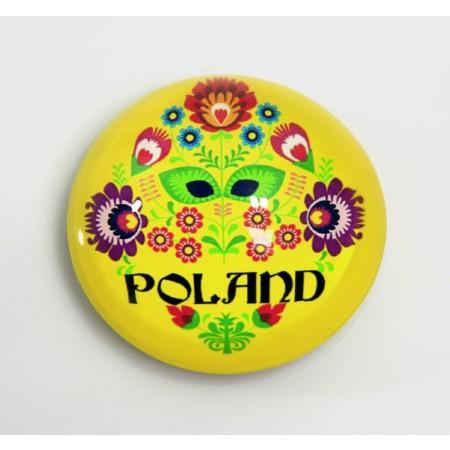 Magnes na lodówkę Polska - żółty