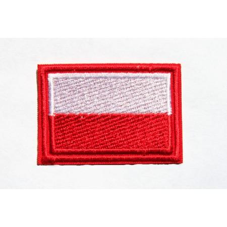 Naszywka flaga z czerwonym obrysem