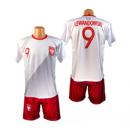 Komplet piłkarski Polska Lewandowski 2018 - koszulka i spodenki