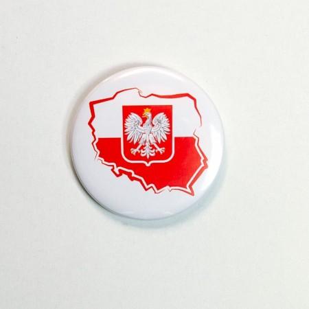 Mała przypinka Polska - wzór 1