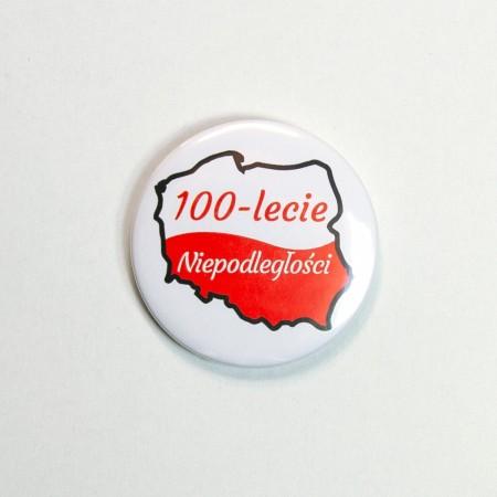 Mała przypinka na 100-lecie odzyskania Niepodległości - wzór 1