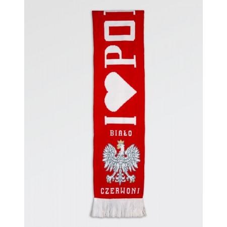 Szalik kibica Polska Biało-Czerwoni II gruby dwustronny