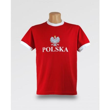 T-shirt męski Orzeł Czerwona