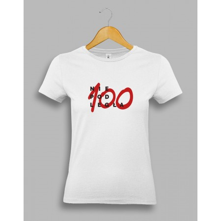 "Damska biała koszulka ""Niepodległa 100"""