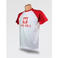 Koszulka męska Polska stylizowane godło
