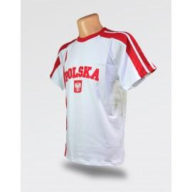 Koszulka Kibica Polska EURO 2020 biała z haftem
