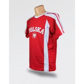 Koszulka dziecięca Polska EURO 2020 czerwona z haftem