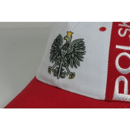 Czapka kibica bejsbolowa Biało-czerwona Polska orzełek 2