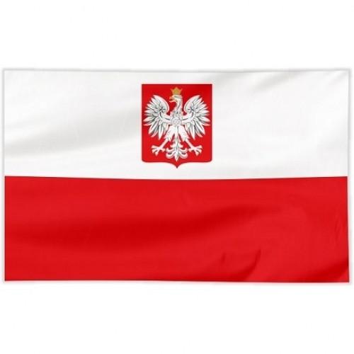 Flaga szyta orzeł 100 x 60 cm