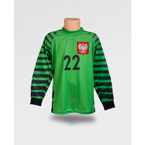 Dziecięca bluza bramkarska - Fabiański - jasno zielona