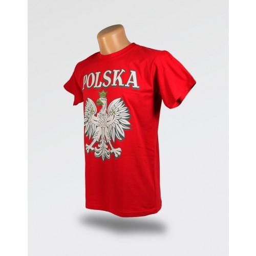 Czerwona koszulka Polska z wielkim orłem