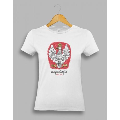 Damska koszulka z orłem, stylizowanym na godło Polski 1918-2018