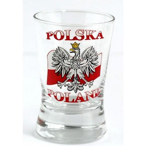 Zestaw 4 kieliszków stylizowanych na flagę Polski