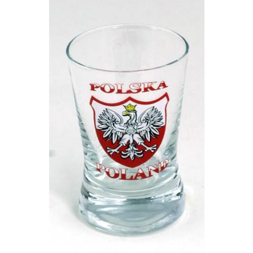 Zestaw 4 kieliszków stylizowanych na godło Polski