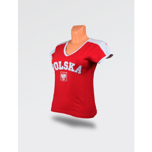 Koszulka damska Polska czerwona