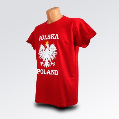 T-shirt Polska orzeł czerwona