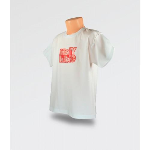 WDK Koszulka dziecięca biała Mały Kibic dla chłopca