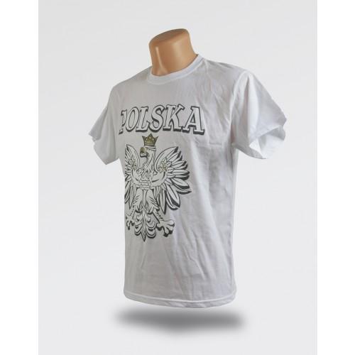 Biała koszulka orzeł