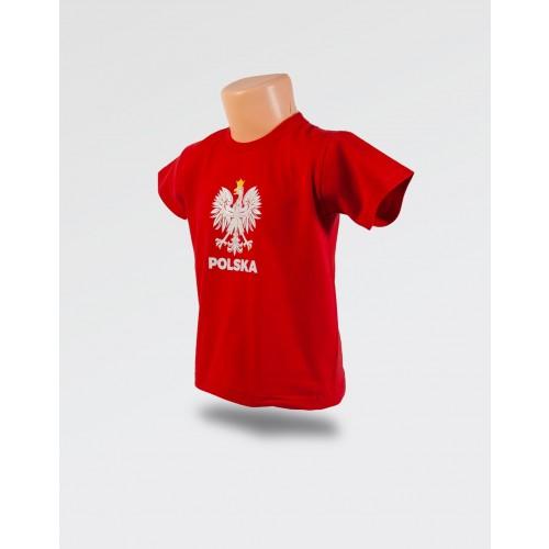 WDK czerwona koszulka z orłem w koronie dla chłopca