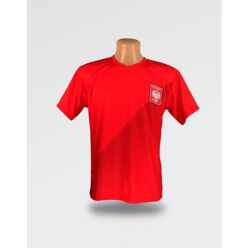 Czerwona dziecięca koszulka Pazdan