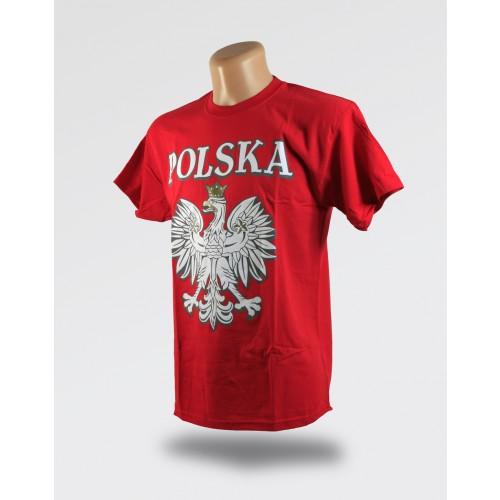 Czerwona koszulka orzeł