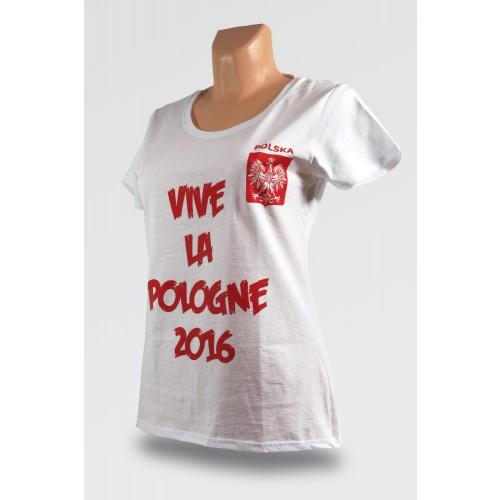 Damska koszulka Vive La Pologne 2016