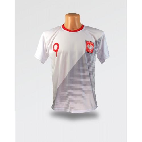 Biała koszulka Lewandowski
