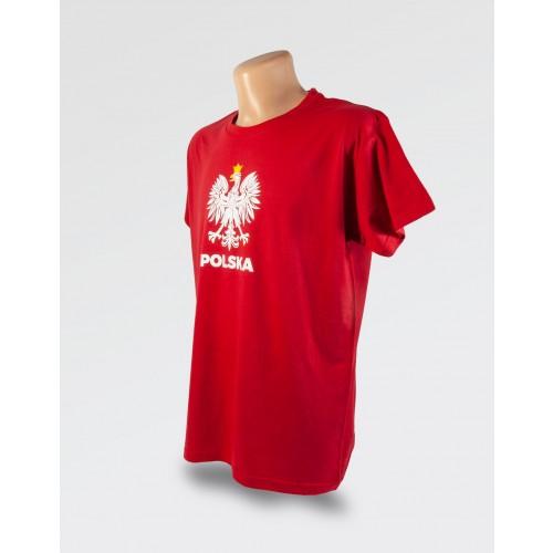 WDK czerwona koszulka z orłem w koronie męska