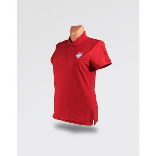 Koszulka Polo Czerwona damska