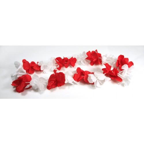 Kwiaty hawajskie kibica Polski